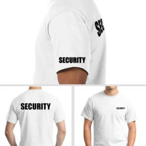 Security Shirt with sleeve printing